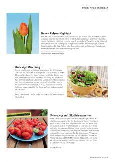 Presseartikel: Neues Tulpen-Highlight (Schweizer Garten | Januar 2018)