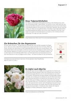 Presseartikel: Neue Tulpenschönheiten (Schweizer Garten | Januar 2016)