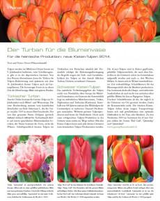 Presseartikel:  Für die heimische Produktion: neue Kisten-Tulpen 2014 (Florist | Februar 2014)