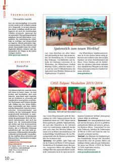 Presseartikel: CASE-Tulpen: Neuheiten 2013/2014 (g'plus | Januar 2014 )